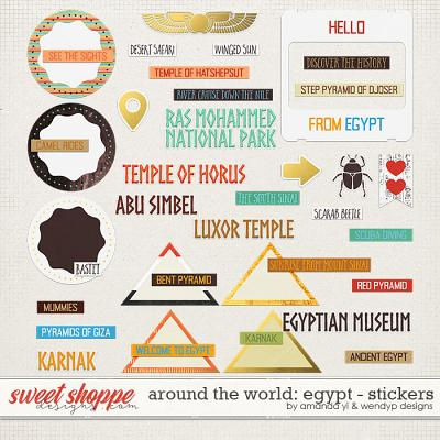 Around the world: Egypt - stickers by Amanda Yi and WendyP Designs