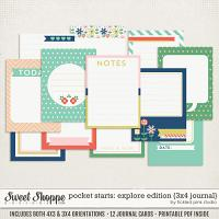 Pocket Starts: Explore Edition 3x4 Journal Cards by Tickled Pink Studio
