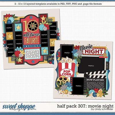 Cindy's Layered Templates - Half Pack 307: Movie Night by Cindy Schneider