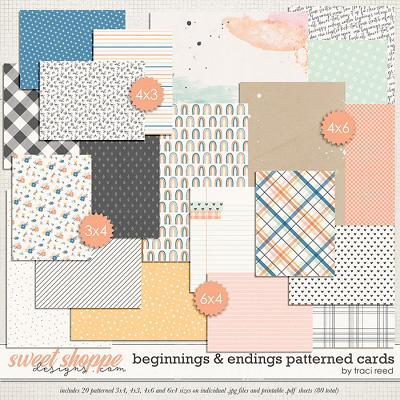 Beginnings & Endings Patterned Cards by Traci Reed