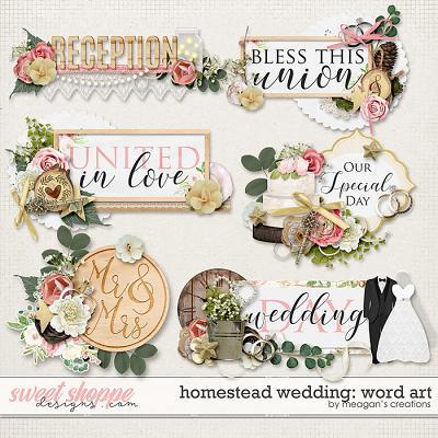 Homestead Wedding: Word Art by Meagan's Creations