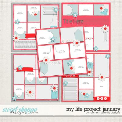 My Life Project: January Layered Templates by Southern Serenity Designs