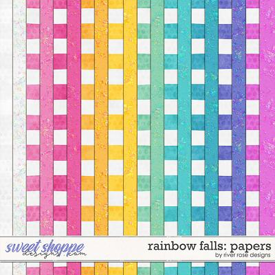 Rainbow Falls: Papers by River Rose Designs