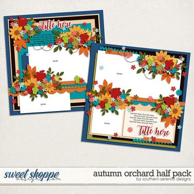 Autumn Orchard Half Pack Layered Templates by Southern Serenity Designs