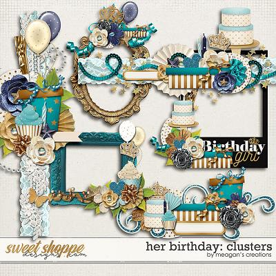 Her Birthday: Clusters by Meagan's Creations