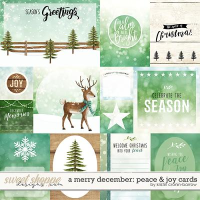 A Merry December: Peace & Joy Cards by Kristin Cronin-Barrow