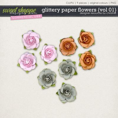 Glittery Paper Flowers {Vol 01} by Christine Mortimer