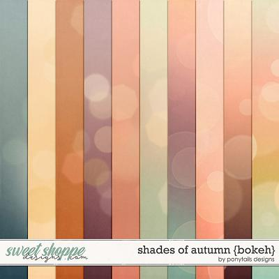 Shades of Autumn Bokeh Papers by Ponytails