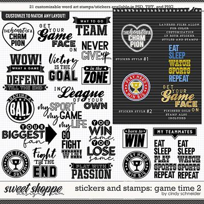 Cindy's Layered Stamps and Stickers: Game Time 2 by Cindy Schneider