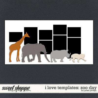 I LOVE TEMPLATES: ZOO DAY by Janet Phillips