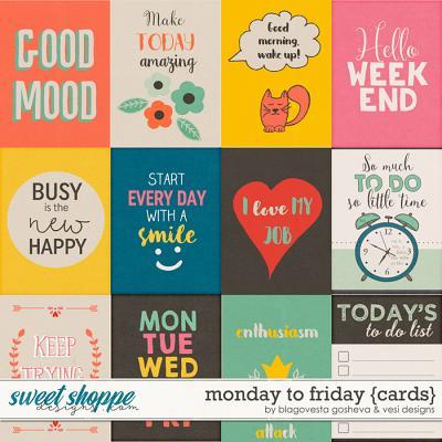 Monday to Friday {cards} by Blagovesta Gosheva & Vesi Designs