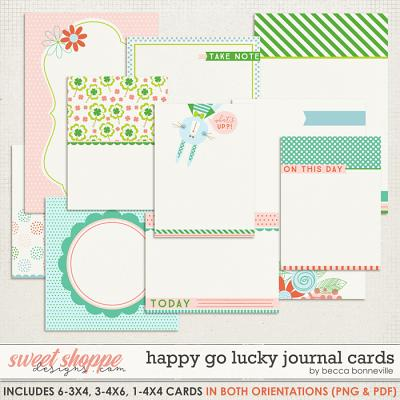 Happy Go Lucky Journal Cards by Becca Bonneville