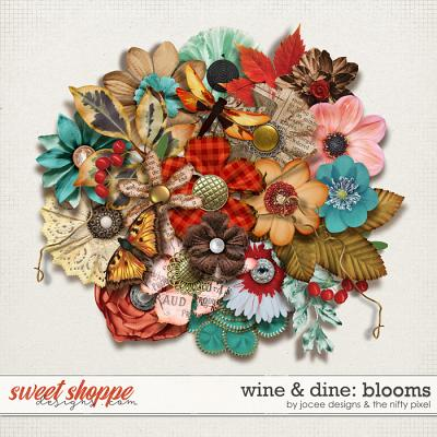 Wine and Dine Blooms by JoCee Designs and The Nifty Pixel