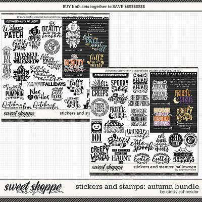 Cindy's Layered Stamps and Stickers: Autumn Bundle by Cindy Schneider