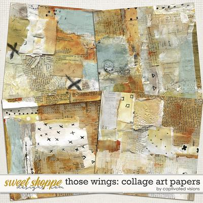Those Wings: Collage Art Papers by Captivated Visions
