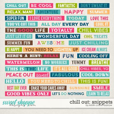 Chill Out: Snippets by Kristin Cronin-Barrow