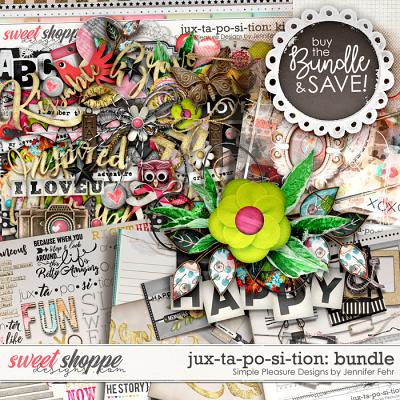 a jux-ta-po-si-tion bundle: Simple Pleasure Designs by Jennifer Fehr
