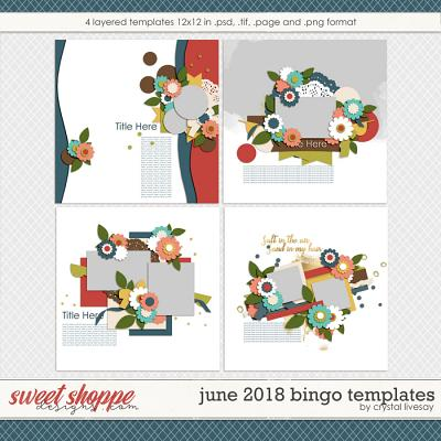 Bingo: June 2018 Templates by Crystal Livesay