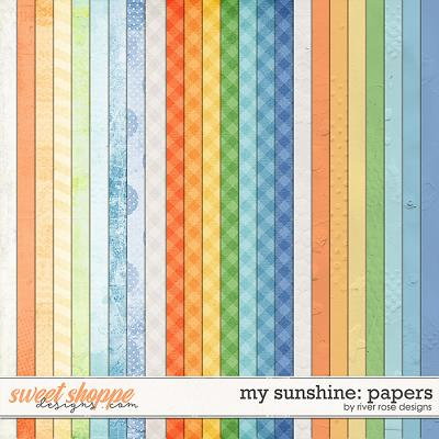 My Sunshine: Papers by River Rose Designs
