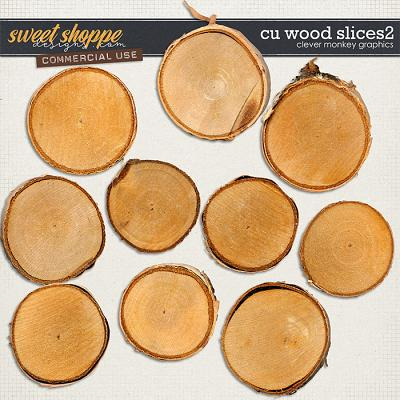 CU Wood Slices 2 by Clever Monkey Graphics