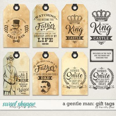 A GENTLE MAN | GIFT TAGS by The Nifty Pixel