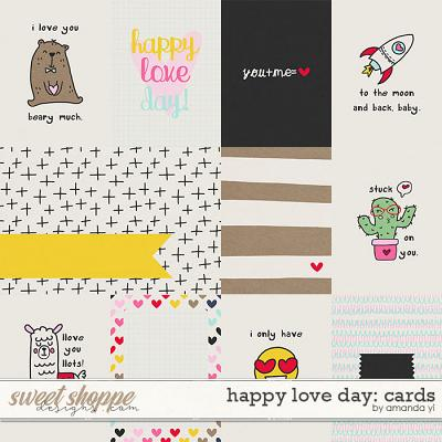 Happy love day cards by Amanda Yi