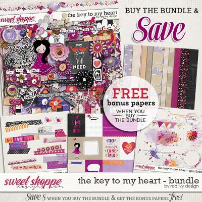 The Key To My Heart - Bundle by Red Ivy Design