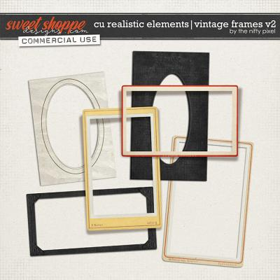 CU REALISTIC ELEMENTS | VINTAGE FRAMES Vol.2 by The Nifty Pixel