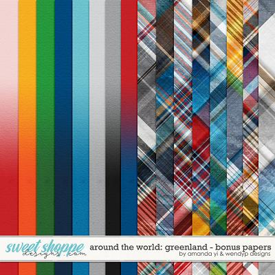 Around the world: Greenland - Bonus Papers by Amanda Yi & WendyP Designs