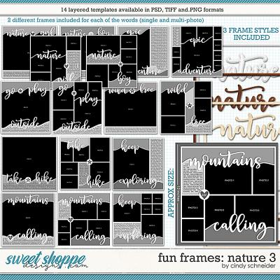 Cindy's Layered Templates - Fun Frames: Nature 3 by Cindy Schneider