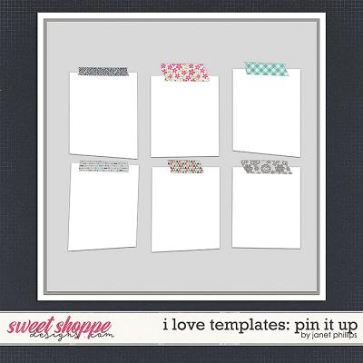I LOVE TEMPLATES: PIN IT UP by Janet Phillips
