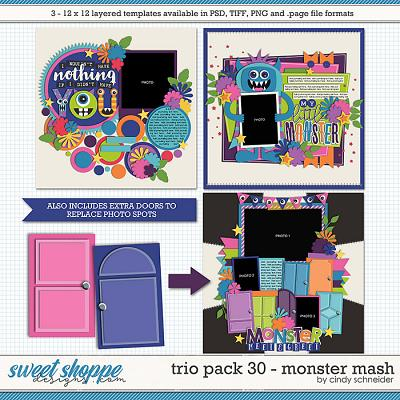 Cindy's Layered Templates - Trio Pack 30: Monster Mash by Cindy Schneider