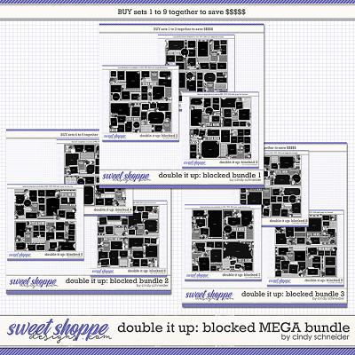 Cindy's Layered Templates - Double It Up: Blocked MEGA Bundle by Cindy Schneider
