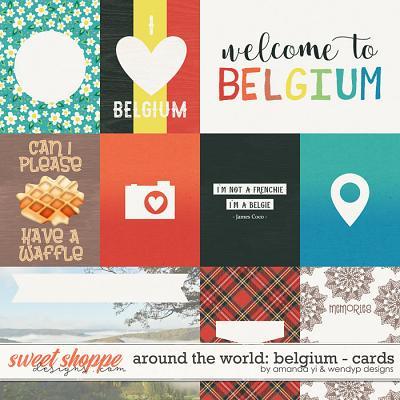 Around the world: Belgium - Cards by Amanda Yi & WendyP Designs