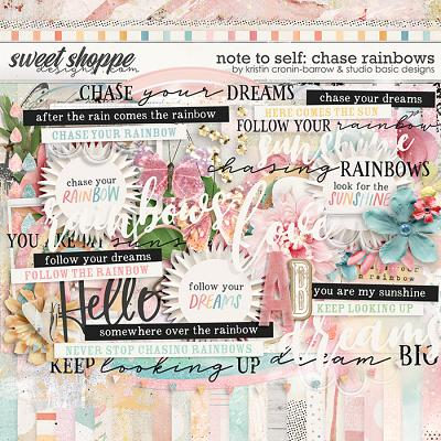 Note To Self: Chase Rainbows Kit by Kristin Cronin-Barrow & Studio Basic