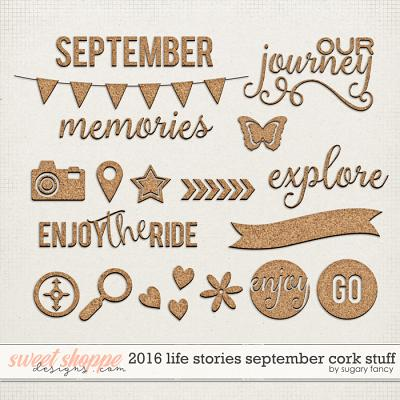 2016 Life Stories - September Cork Stuff by Sugary Fancy