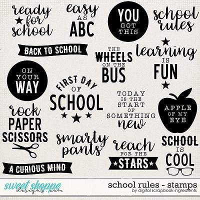 School Rules | Stamps by Digital Scrapbook Ingredients