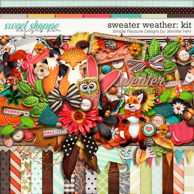 sweater weather kit: Simple Pleasure Designs by Jennifer Fehr