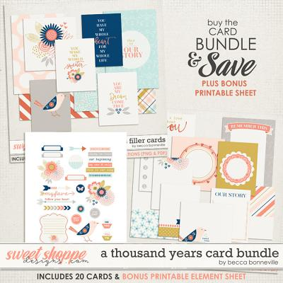 A Thousand Years Card Bundle by Becca Bonneville