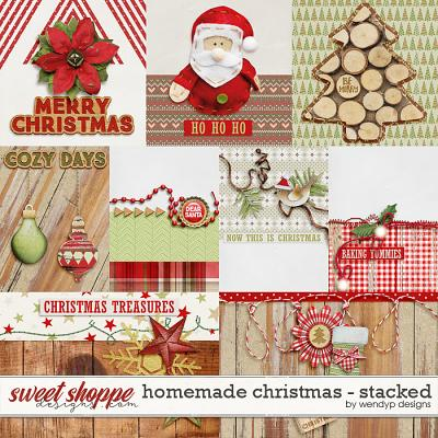 Homemade Christmas - stacked Cards by WendyP Designs