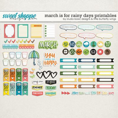 March Is For Rainy Days Printables by Studio Basic & Little Butterfly Wings