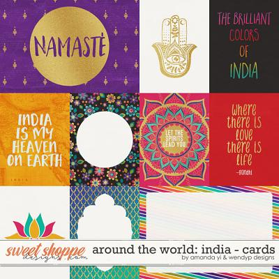 Around the world: India - Cards by Amanda Yi & WendyP Designs