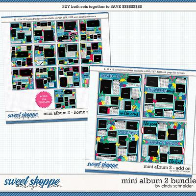 Cindy's Layered Templates - Mini Album 2 Bundle by Cindy Schneider