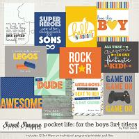 Pocket Life: For The Boys 3x4 Titlers by Traci Reed
