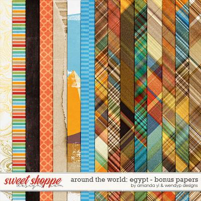 Around the world: Egypt - Bonus papers by Amanda Yi and WendyP Designs