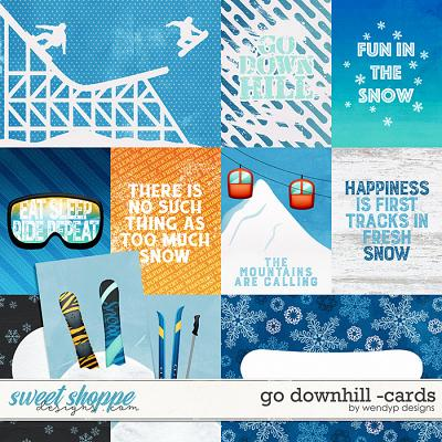 Go Downhill - cards by WendyP Designs