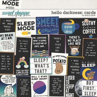 Hello Darkness: Cards by Erica Zane