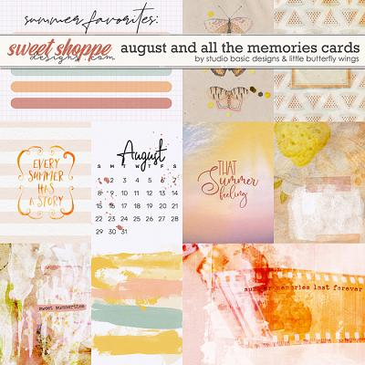 August And All The Memories... Cards by Studio Basic & Little Butterfly Wings