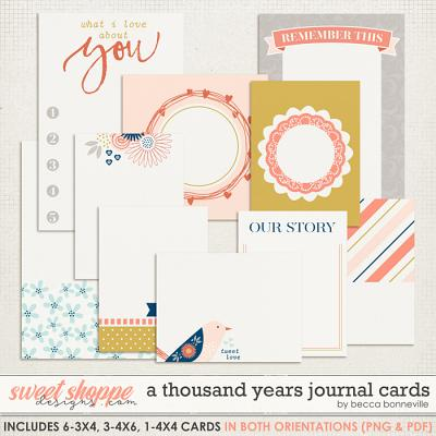 A Thousand Years Journal Cards by Becca Bonneville