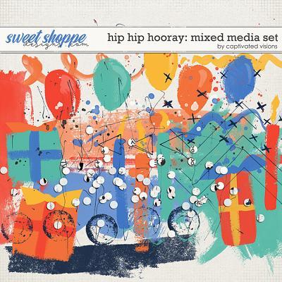 Hip Hip Hooray: Mixed Media Set by Captivated Visions